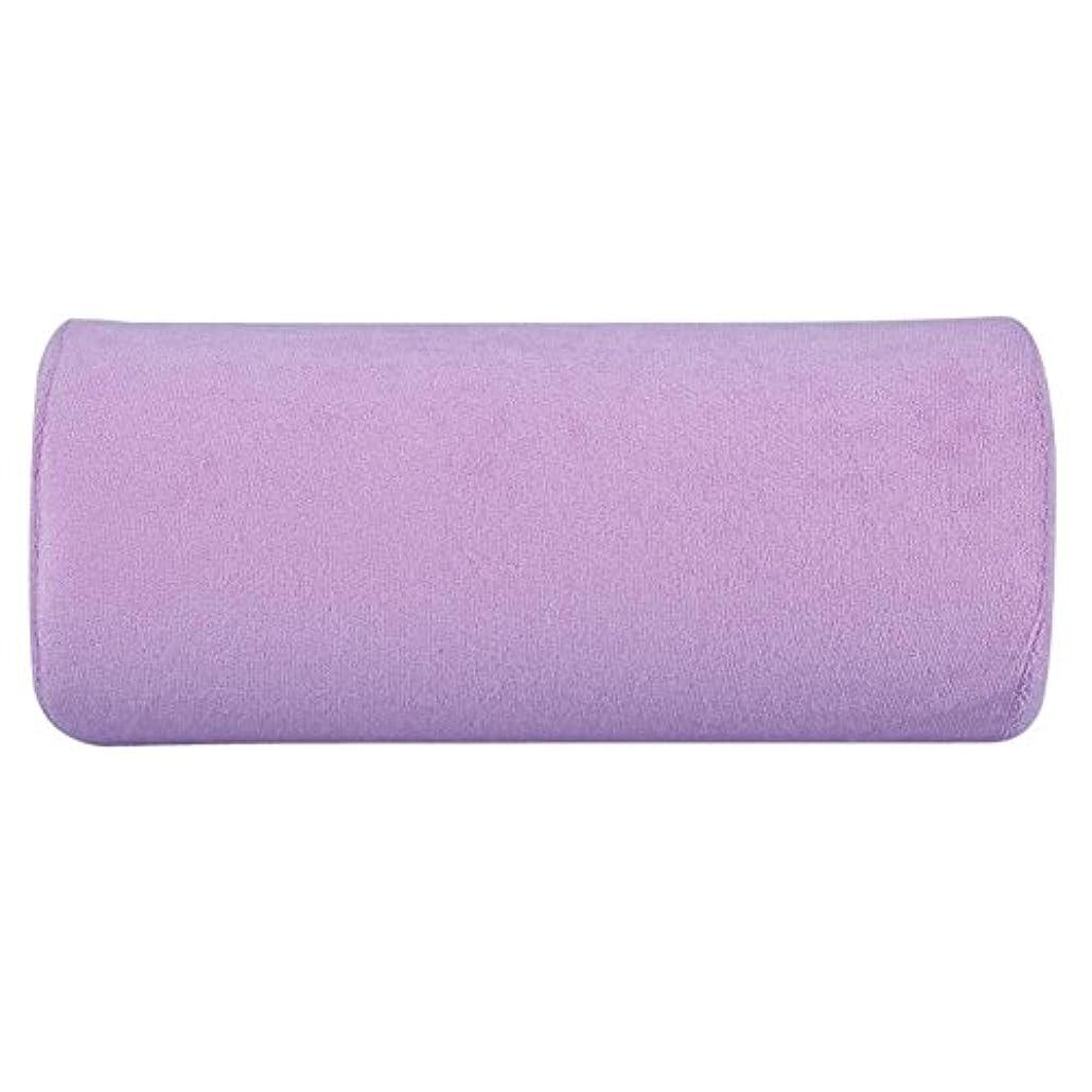 サーカス確認段階腕置き Okuguy ハンド枕 手の枕 腕マクラ ハンドピロー 柔らかい 美容院 美容室 サロン (紫)