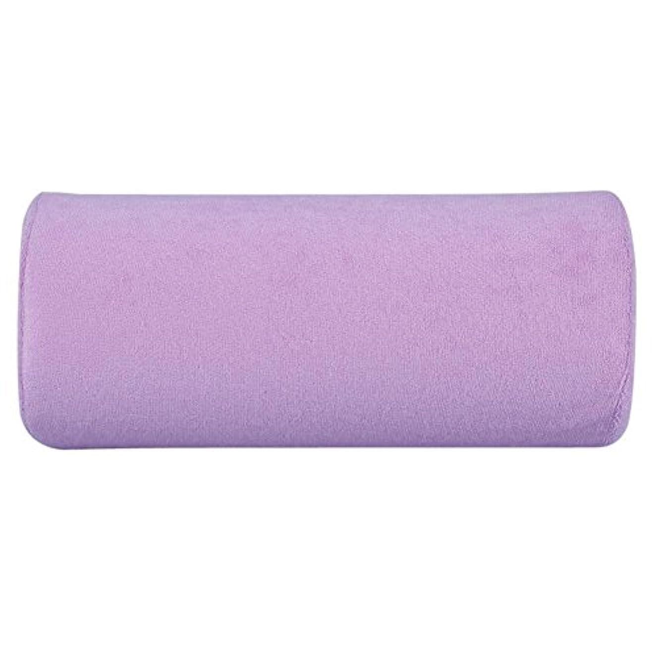 うねる単調な受けるアートソフトスポンジピローハンドレストクッション(紫の)