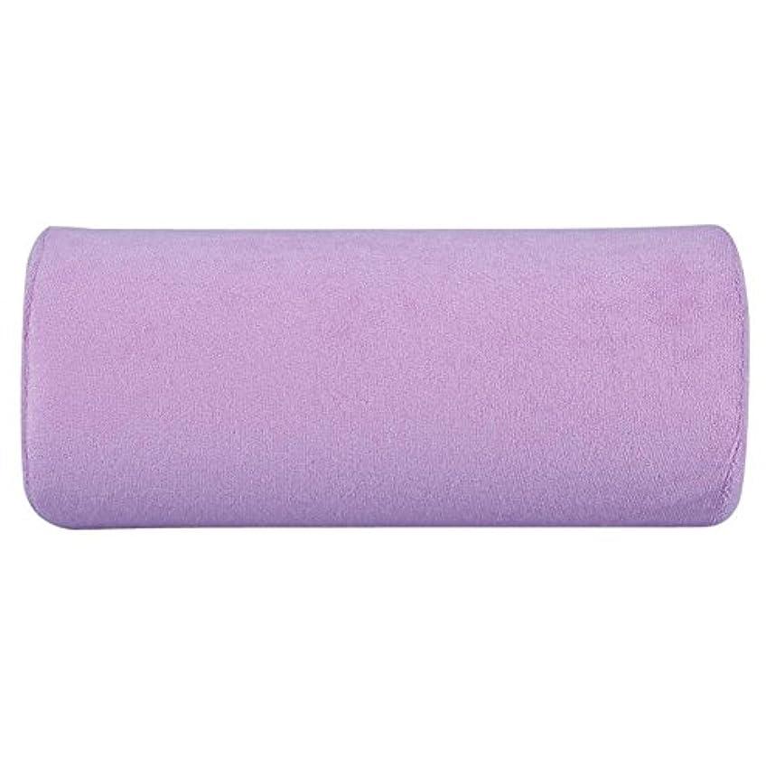 三角形先見の明作りアートソフトスポンジピローハンドレストクッション(紫の)