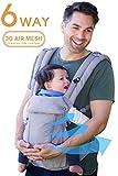 ルミエール 6WAY 抱っこ紐温度調節パネルで年中快適 - 前向き おんぶ 授乳可能 疲れにくい腰サポート(Pearl Grey) Lumiere Baby