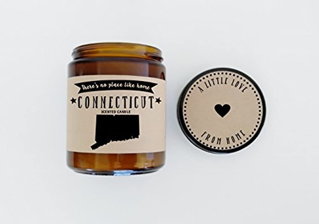 指ディプロマ絵Connecticut Scented Candle Missing Home Homesick Gift Moving Gift New Home Gift No Place Like Home State Candle...