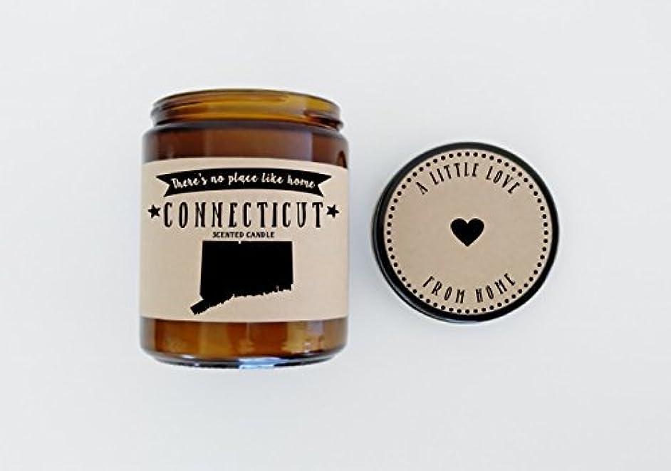 ボアフロント劇的Connecticut Scented Candle Missing Home Homesick Gift Moving Gift New Home Gift No Place Like Home State Candle...