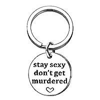 AMOR SPES My Favorite Murder キーチェーン - Murderino ギフト - SSDGM Stay Sexy - True Crime