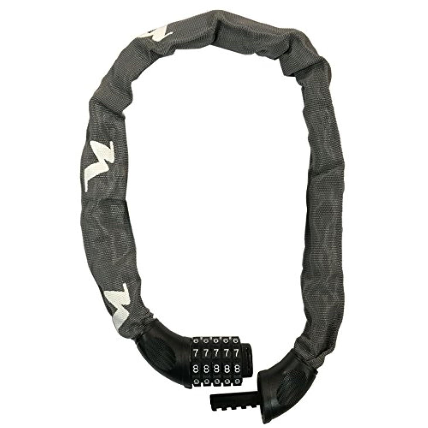 調和メタリック落とし穴ニッコー(NIKKO) 5桁ダイヤル式チェーンロック (開錠番号変更可能) N661C750GR スチールグレー 線径φ6mmチェーン×750mm