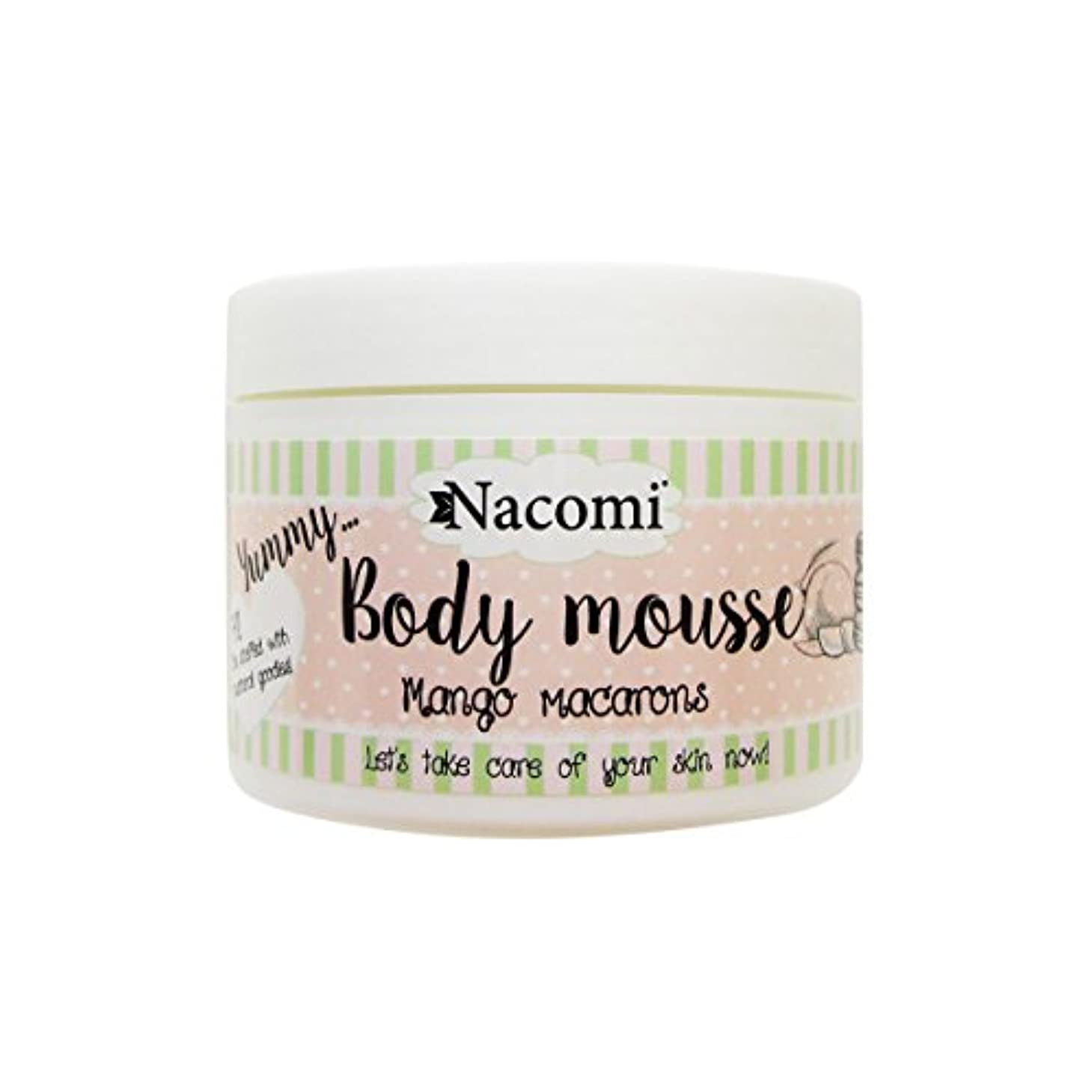 悪性腫瘍ハント講師Nacomi Body Mousse Mango Macarons 180ml [並行輸入品]