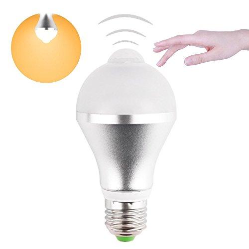 Minger LED電球 5W/電球40W形相当 電球色 口金E26/E27 人感センサー 赤外線センサー 40秒自動点灯/消灯 広配光タイプ 425lm 省エネ 長寿命