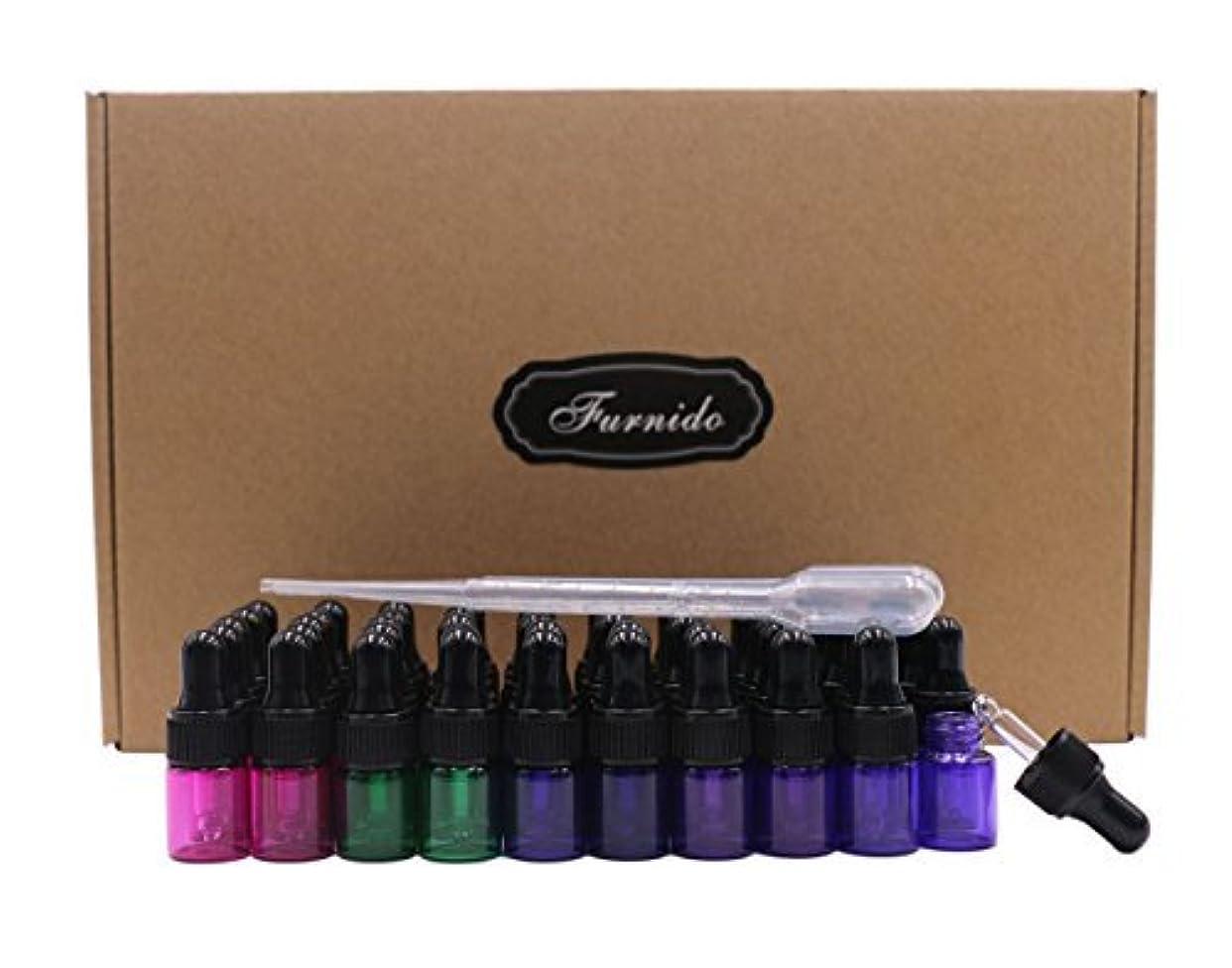 そばにかなりスクリーチFurnido 2ml 50pcs Mixed colors Eye Dropper bottles 5/8 drams Mini Glass vial Essential oil bottles refillable...