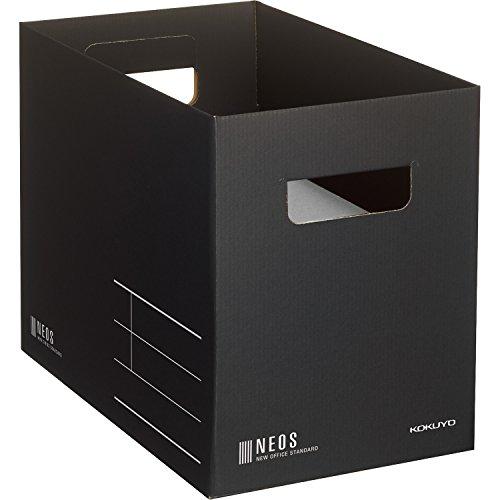 コクヨ 収納ボックス NEOS Mサイズ ブラック A4-NEMB-D
