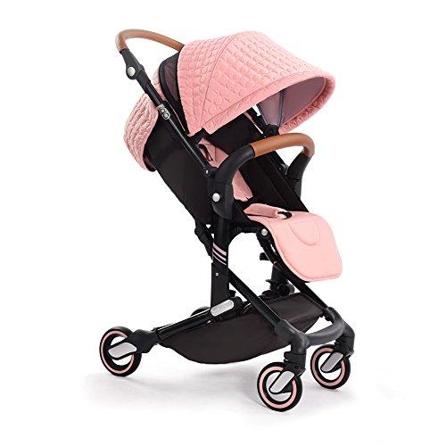babysing I-GO ベビーカー 76cm ハイシート 軽量 コンパクト押しやすい 取り付ける簡単 ベビーカー 0-3歳 女の子 15キロ (ピンク)