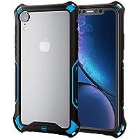 エレコム iPhone XR ケース 衝撃吸収 ZEROSHOCK バンパー ストラップホール機能付き 【落下時の衝撃から本体を守る】 ブルー PM-A18CZEROBBU