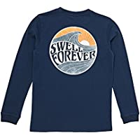 Swell Boys Kids Boys Forever Ls Tee Long Sleeve Cotton Blue