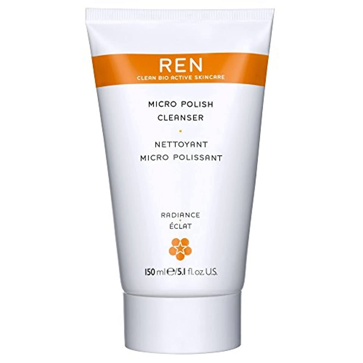 縁石クリップ蝶逸話Renミルコ磨きクレンザー、150ミリリットル (REN) (x6) - REN Mirco Polish Cleanser, 150ml (Pack of 6) [並行輸入品]