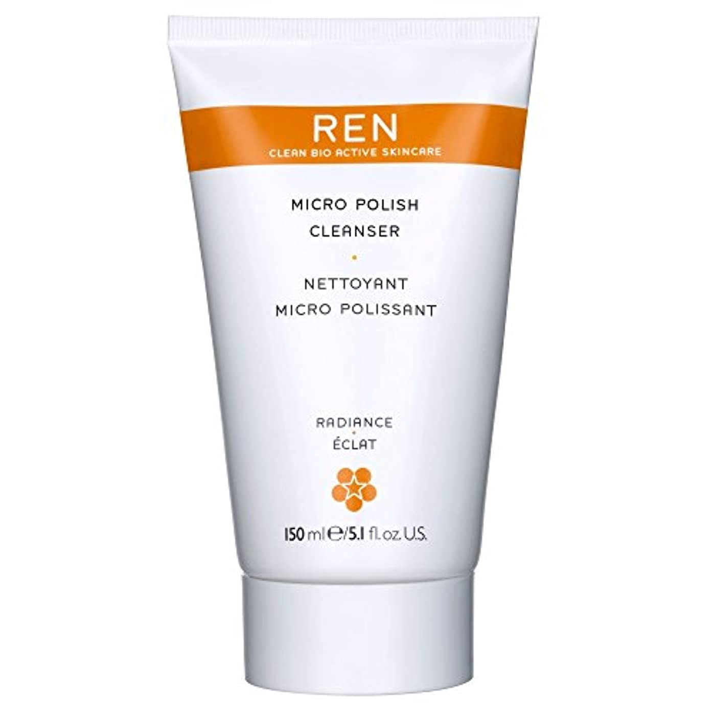 スノーケル遠近法事故Renミルコ磨きクレンザー、150ミリリットル (REN) (x6) - REN Mirco Polish Cleanser, 150ml (Pack of 6) [並行輸入品]
