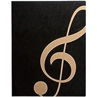 ナカノ ミュージックレッスンファイル ト音記号 ブラックゴールド FL-95/GC/BLG