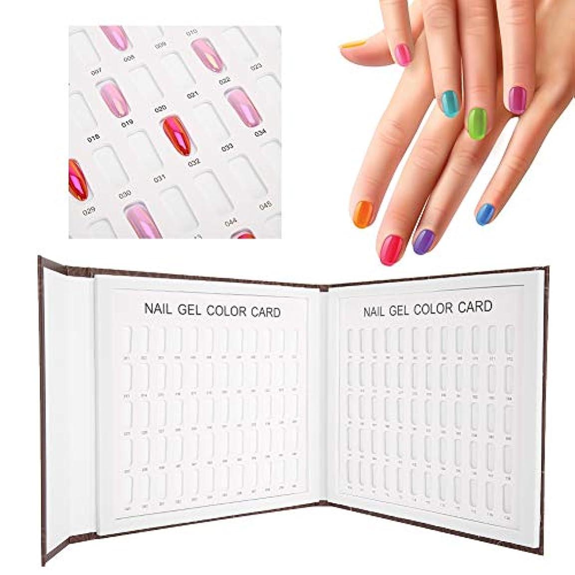 広告主事実こんにちはネイルアートディスプレイスタンド 120色 ネイルジェルカラーカード ネイルポリッシュディスプレイチャート本ネイルアート表示棚(2)