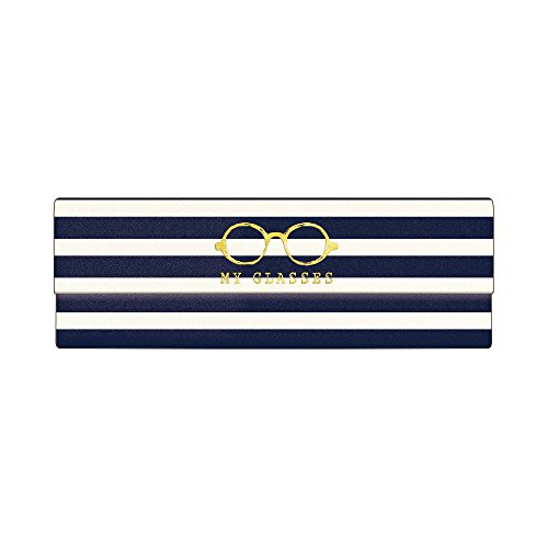 Kamio Japan folding glasses case (with a cross) border 02420