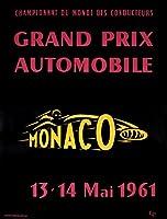 Grand Prix Automobile–モナコヴィンテージポスター(アーティスト: c.p. ) Moncao C。1961 12 x 18 Art Print LANT-60036-12x18