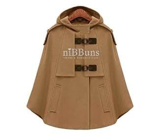 Richie Rosa ポンチョ ショート コート ジャケット オリジナル ブレスレット プレゼント LA0062 (XL, ブラウン)