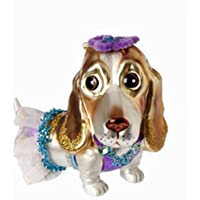 パープルビーグル犬クリスマスオーナメント
