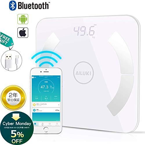 体重・体組成計 デジタル Bluetooth 体重計 USB...
