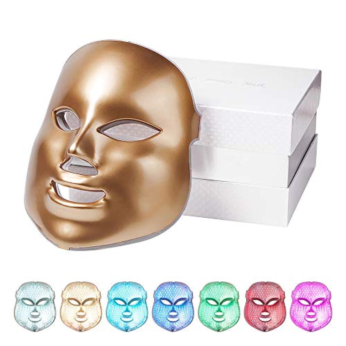 おもちゃゴシップ教育するLEDフォトンセラピー7色の光処理の肌の若返りのクリスマスギフトのためのアンチエイジングアクネスポットしわそばかすの除去?フェイシャルホワイトニングデイリースキンケアマスク