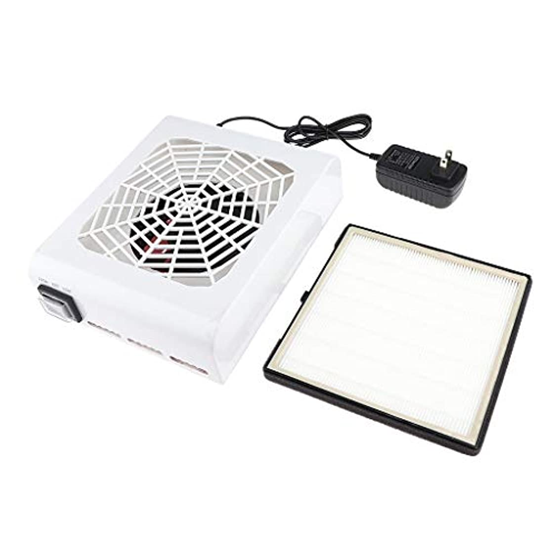 CUTICATE 48W ネイルダストコレクタマシン吸引 吸引クリーナー ネイルフィルター
