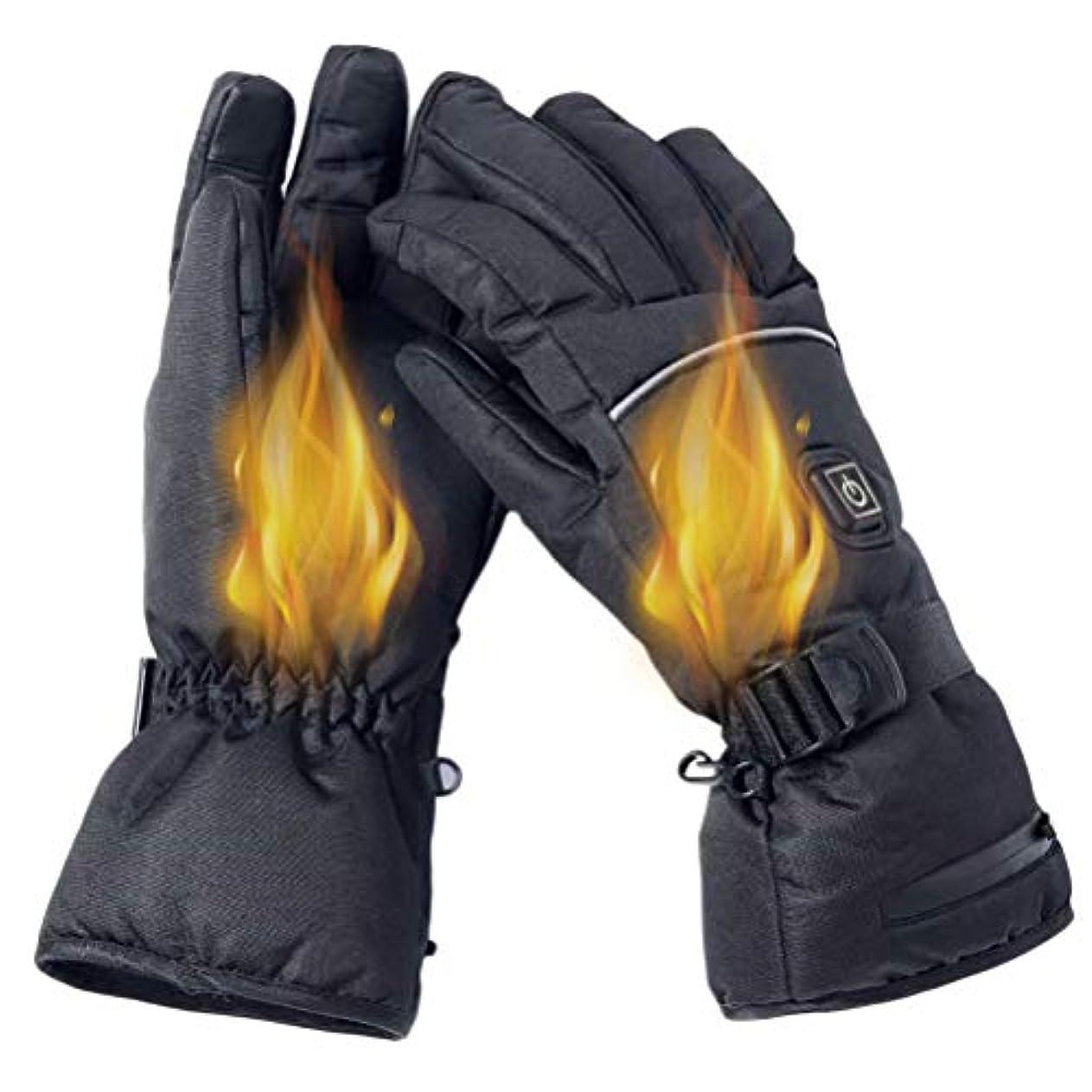 ラベプーノあたりTAIPPAN 電気加熱手袋冬暖かい手袋3レベル温度調節可能な手袋防寒 スポーツグローブ
