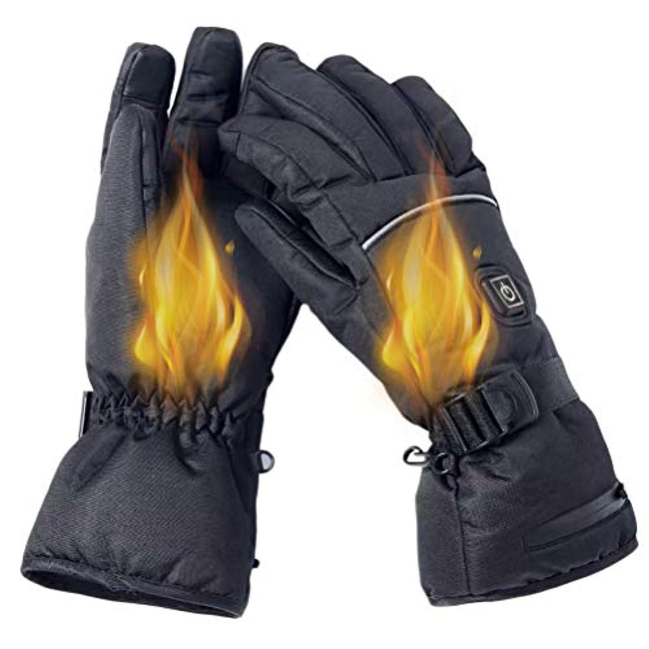 ロンドン恐れ油TAIPPAN 電気加熱手袋冬暖かい手袋3レベル温度調節可能な手袋防寒 スポーツグローブ