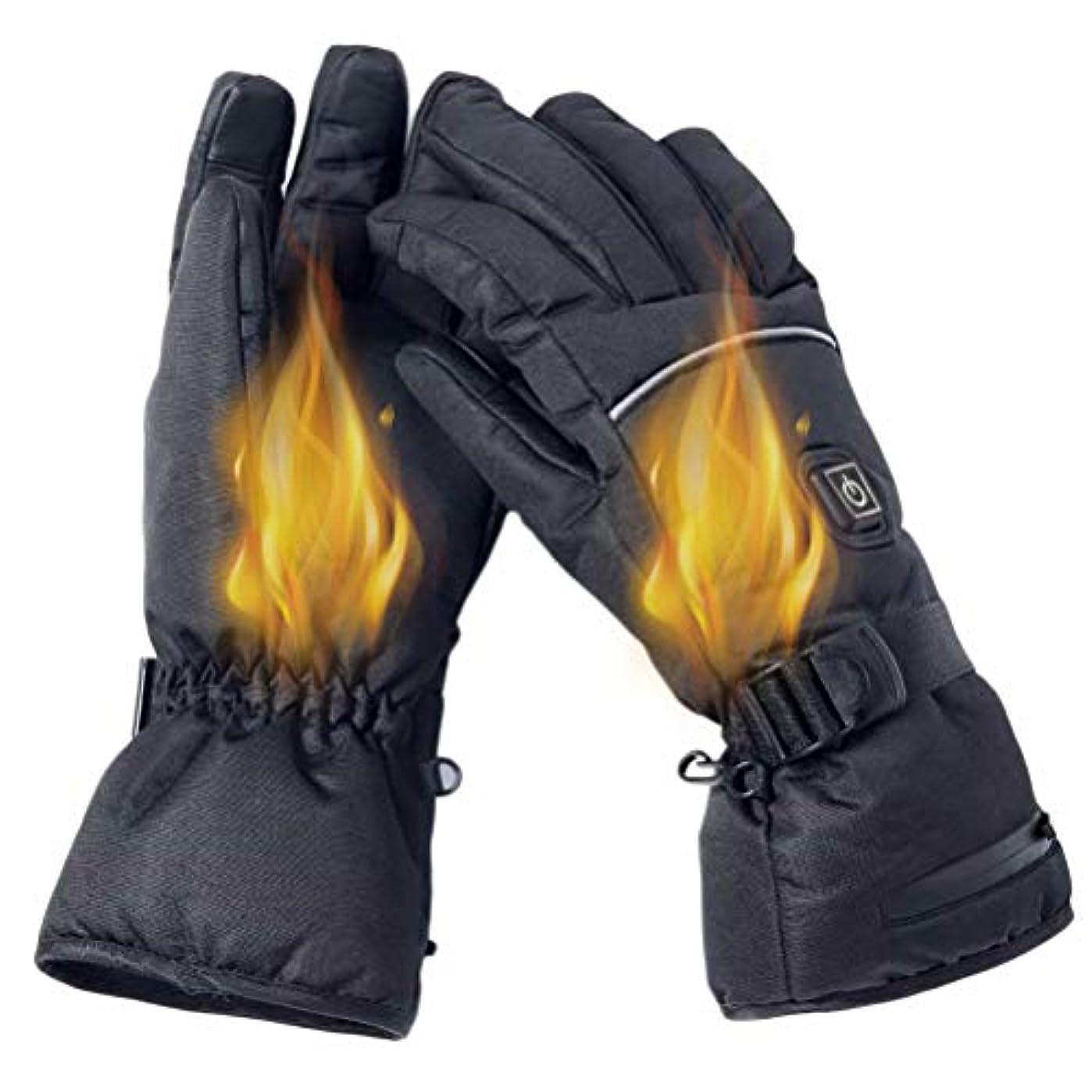 不安傾向注目すべきTAIPPAN 電気加熱手袋冬暖かい手袋3レベル温度調節可能な手袋防寒 スポーツグローブ