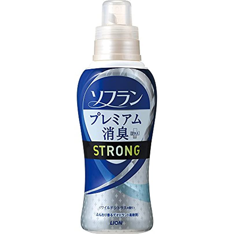 原理バリア熱狂的なソフラン プレミアム消臭プラス STRONG 柔軟剤ワイルドシトラスの香り 本体 570ml