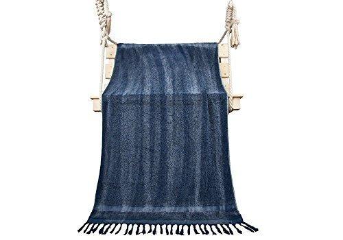 winthomeファッションデザイングラデーションYarn Dyed bathtowelコットンバスタオル明るいcolors-superソフトと水吸収for旅行/スポーツ/ Spa 1 Pack 28X55inch ブルー BT07