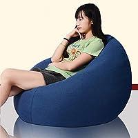 贅沢なビーンバッグの椅子デザイナー柔らかい洗えるポータブル怠惰なソファ10代の若者や大人に適した60 cm * 75 CM(23.62インチx 29.52インチ)ホーム、寝室、軽量 warm gray