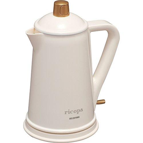 アイリスオーヤマ (送料無料) ricopa 電気ケトル IKE-R800-C アイボリー (568685) アイリスオーヤマ リコパ やかん 湯沸かし器 ケトル