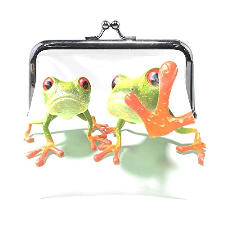 AOMOKI 財布 小銭入れ ガマ口 コインケース レディース メンズ レザー 丸形 おしゃれ プレゼント ギフト デザイン オリジナル 小物ケース カエル 可愛い