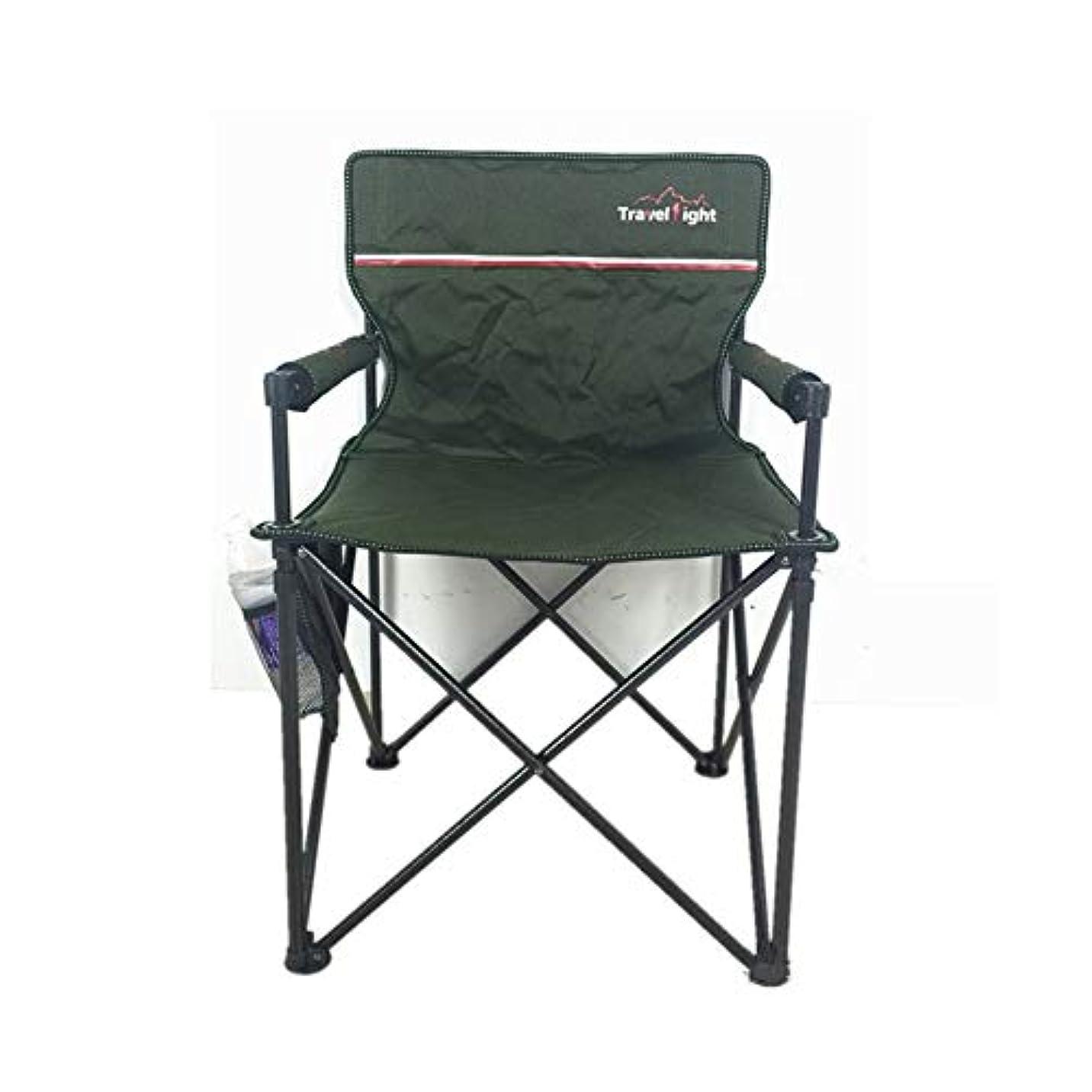 トロリーバスインストラクター見ましたアウトドアチェア 屋外折りたたみ椅子、丈夫な鉄骨フレーム、カップホルダー付きのポータブルキャンプチェア、祭り/釣り/庭/ビーチでの使用