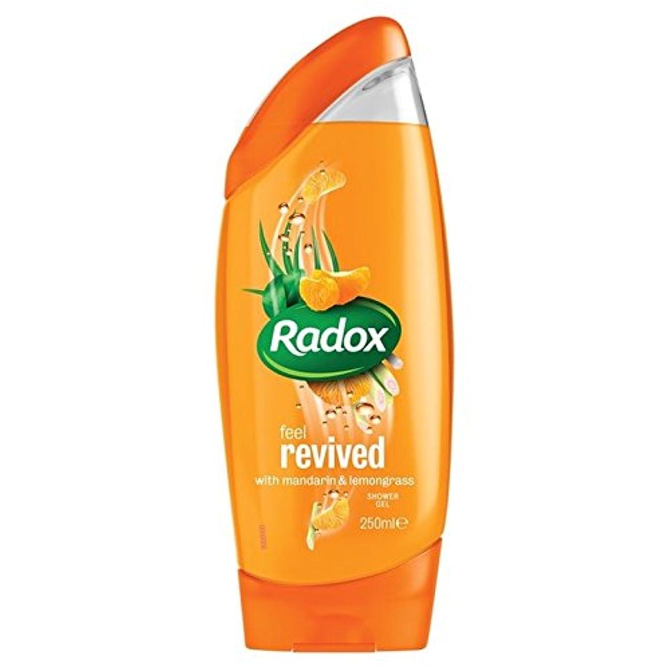 スツールマディソンすごいのみかんは、シャワージェル250ミリリットルを復活させます x4 - Radox Mandarin Revive Shower Gel 250ml (Pack of 4) [並行輸入品]