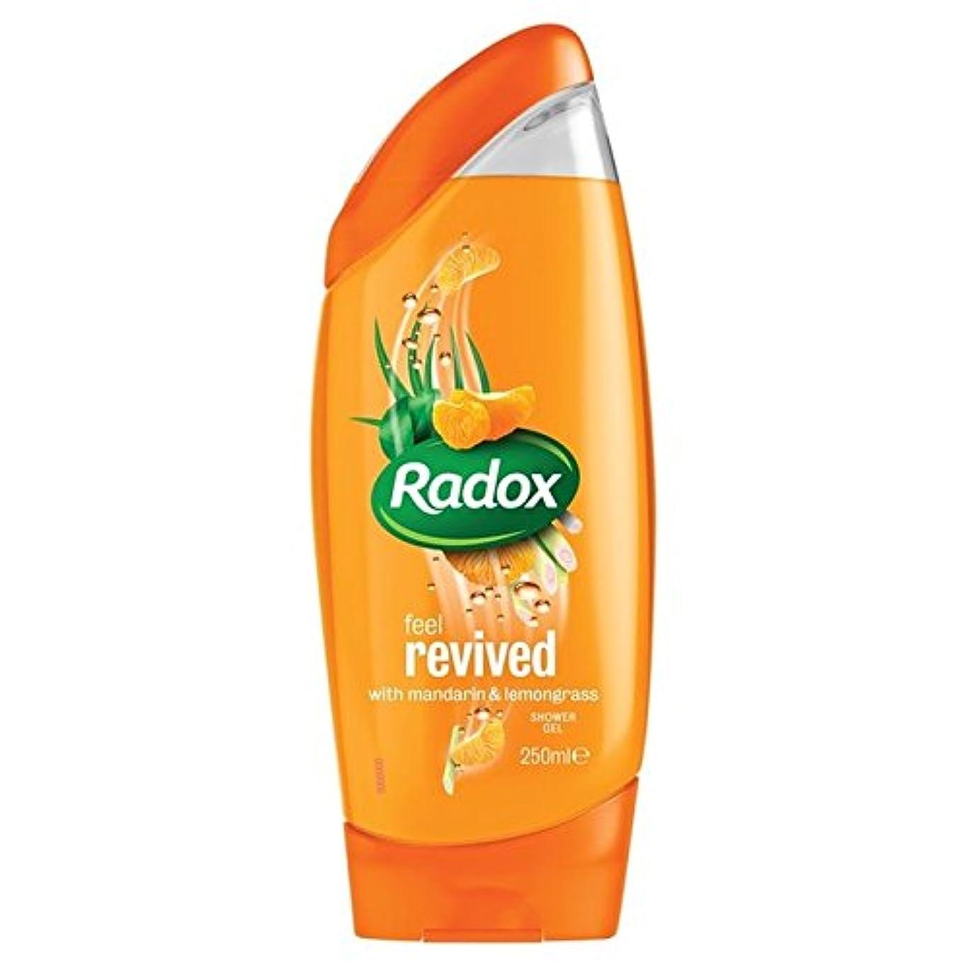 農業の叫び声ウッズのみかんは、シャワージェル250ミリリットルを復活させます x4 - Radox Mandarin Revive Shower Gel 250ml (Pack of 4) [並行輸入品]