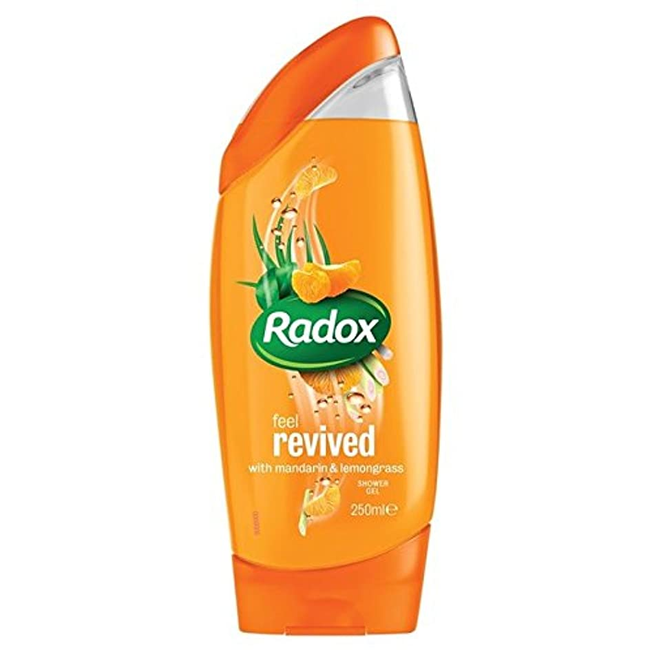 天皇試すつまらないのみかんは、シャワージェル250ミリリットルを復活させます x4 - Radox Mandarin Revive Shower Gel 250ml (Pack of 4) [並行輸入品]