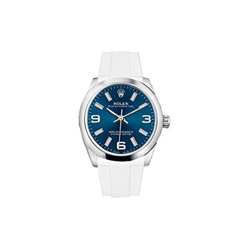 [ラバービー] RubberB ラバーベルト ROLEX オイスターパーペチュアル デイトジャスト レディ 31mm専用ラバーベルト(ROLEX純正バックルを使用)(ホワイト)※時計は付属しません(Watch is not included) [並行輸入品]
