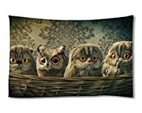 かわいい猫 (#054) - ホーム インテリア 壁の装飾 タペストリー 115x75cm