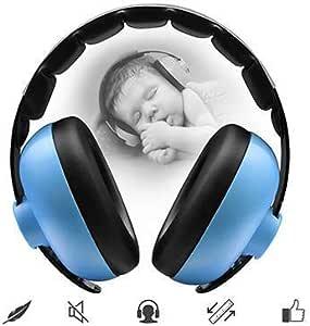 防音イヤーマフ 子供用 プロテクター フリーサイズ 学生用 睡眠 勉強 自閉症 聴覚過敏 騒音対策 勉強等様々な用途に (青)