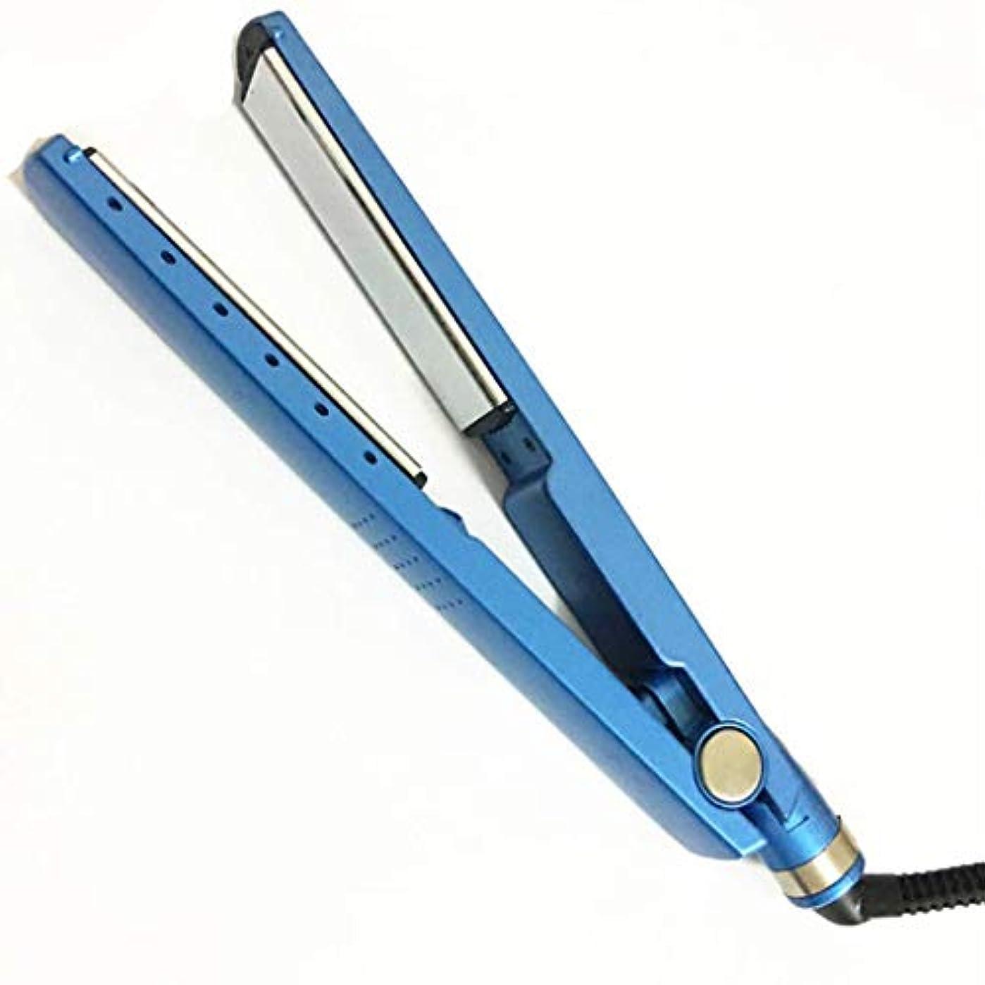プロナノチタン?ヘア?ストレートナー、1/4ワイドストレートアイロン、LED温度設定最大450°F