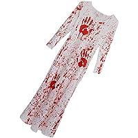 perfk ワンピース ?ロング ハロウィン仮装 血まみれ 派手 ドレス 2サイズ - L/XL