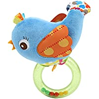 HS Baby Rattles Teetherおもちゃ幼児新生児開発おもちゃギフト( Blue Bird )