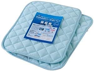 接触冷感ひんやりタッチプラス アウトラスト(NASA使用素材)快適快眠クール枕パッド(ナイスクール素材使用) 同色2枚組 ブルー 44060002