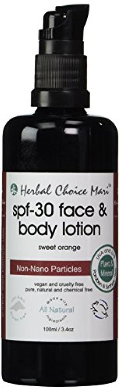 Herbal Choice Mari SPF30 Face & Body Lotion Sweet Orange 100ml/ 3.4oz Pump by Herbal Choice Mari