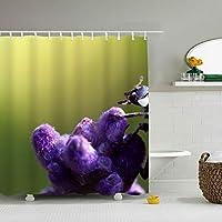 浴室カーテン バスカーテン お風呂 シャワーカーテン ユニットバス バスタブ 防水防カビ 軽量 布製 リング付属 取付簡単てんとう虫
