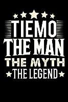 Notizbuch: Tiemo The Man The Myth The Legend (120 karierte Seiten als u.a. Tagebuch, Reisetagebuch fuer Vater, Ehemann, Freund, Kumpe, Bruder, Onkel und mehr)