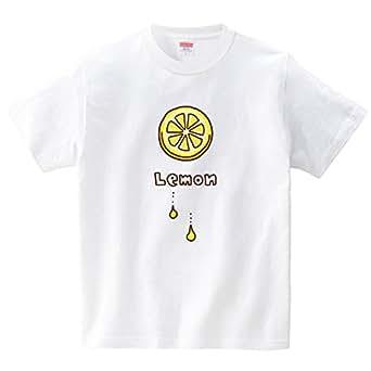 ハテナポップ レモン(Tシャツ・ホワイト)(Sサイズ) (tsukamotojunko)