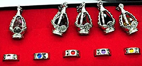 魔法少女まどか ☆ マギカ ソウルジェム 【ネックレス】と 指輪  5種類全セット